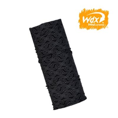 【Wind x-treme】美麗諾羊毛保暖多功能頭巾 5004 黑印花(透氣、圍領巾、西班牙)
