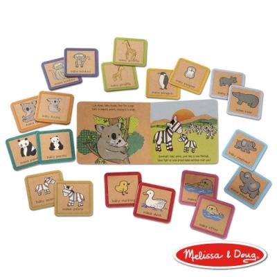 【Melissa & Doug 美國瑪莉莎】Natural Play 繪本+遊戲圖卡 - 媽媽寶寶 大豆油墨、環保無毒