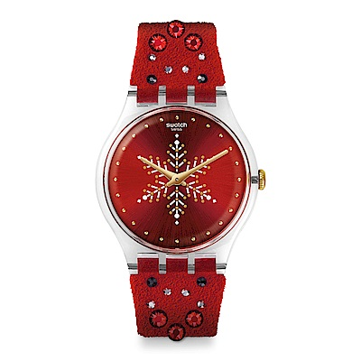 Swatch New Gent XMAS SHINEBRIGHT 紅色耶誕手錶