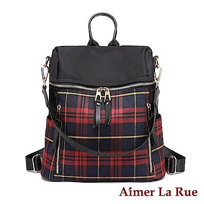 Aimer La Rue 馬利克學院肩背後背包-紅色(快)