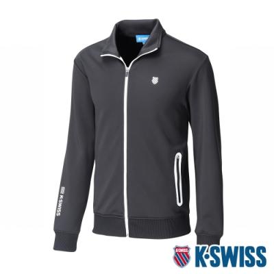 K-SWISS Contrast Knit Jacket運動外套-男-黑