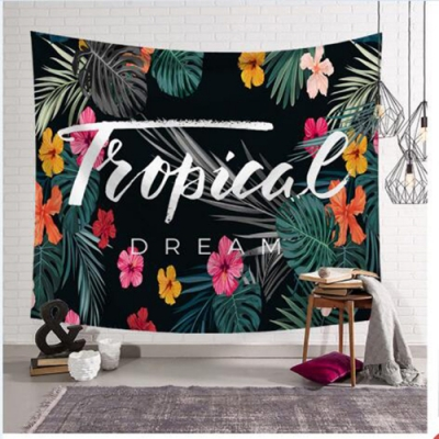 半島良品 北歐風裝飾掛布-植物系列/熱帶花朵 150x130cm