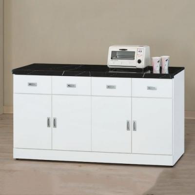 MUNA 純白5.3尺石面餐櫃/碗碟櫃(下座)  160X42.7X82cm