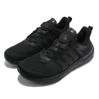 adidas 慢跑鞋 Equipment 運動 男鞋 愛迪達 輕量 透氣 舒適 避震 球鞋 全黑 H02752
