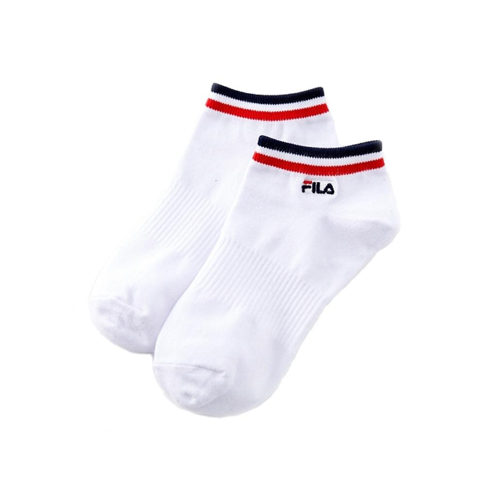 FILA 基本款棉質踝襪-白 SCV-1001-WT