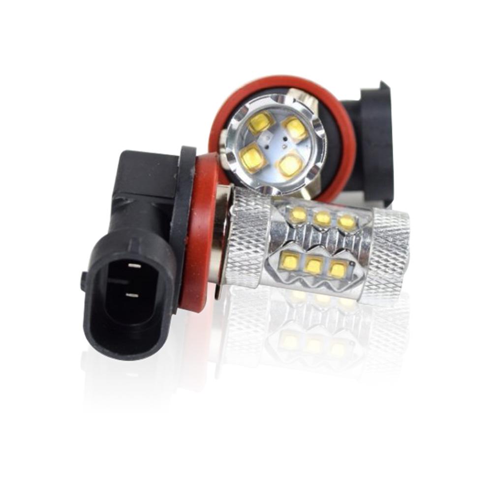 【車的LED】9006 魚眼 16LED 白光 80W(雙入組)