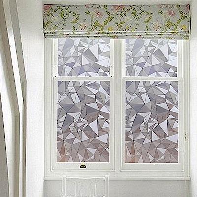 半島良品 無膠玻璃靜電貼-三角形45x200cm