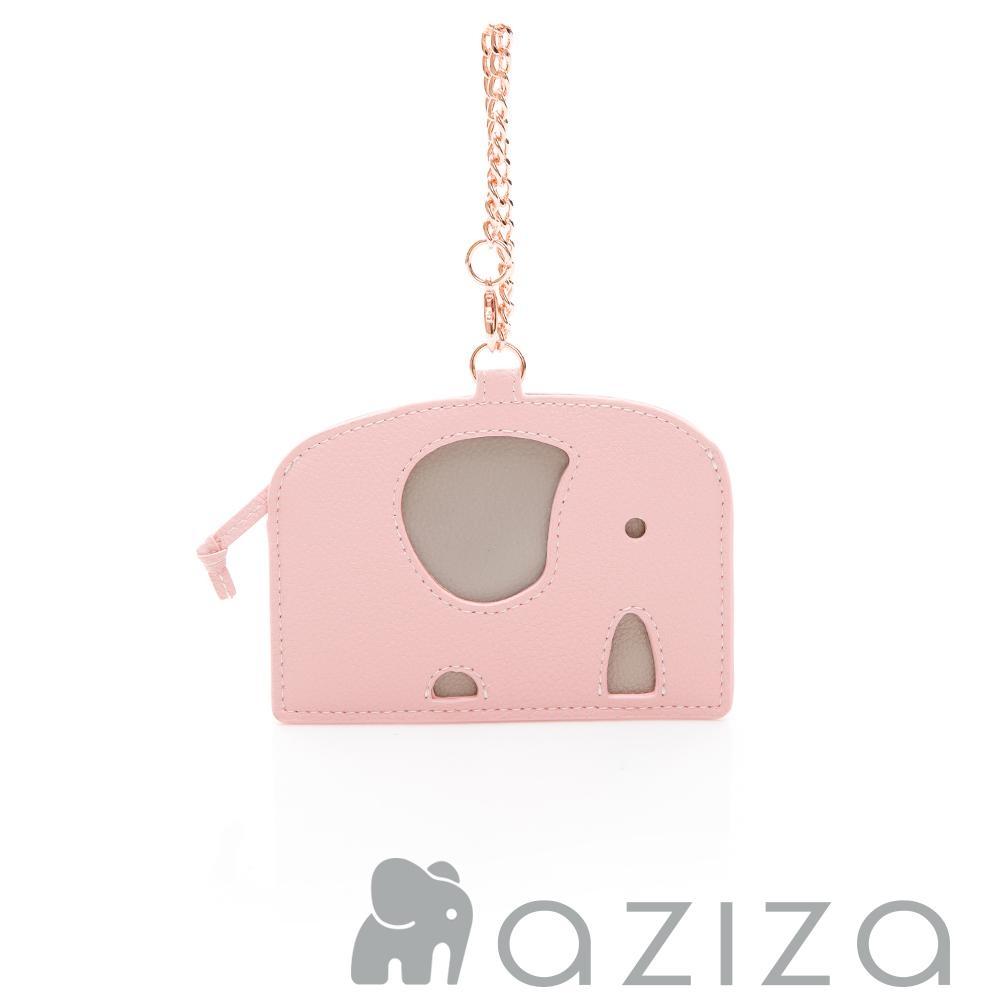 aziza 小象造型票卡夾 粉