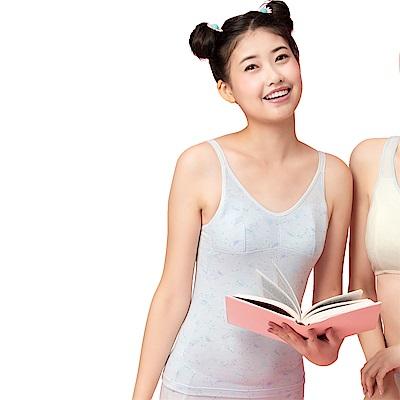 嬪婷-學生一階段M-3L長背心(灰)天使寶貝棉