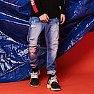 CACO-補丁合身牛仔褲-男【QST053】