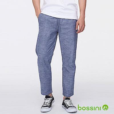 bossini男裝-彈性九分褲牛仔藍