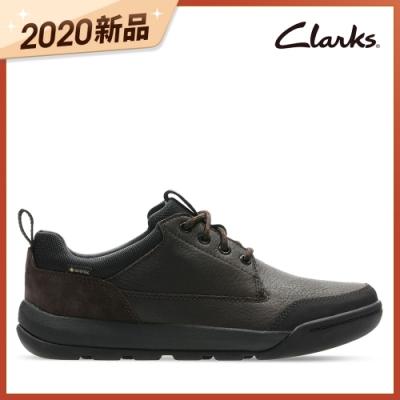 Clarks 樂活休閒 輕戶外GTX防水綁帶休閒鞋 棕色