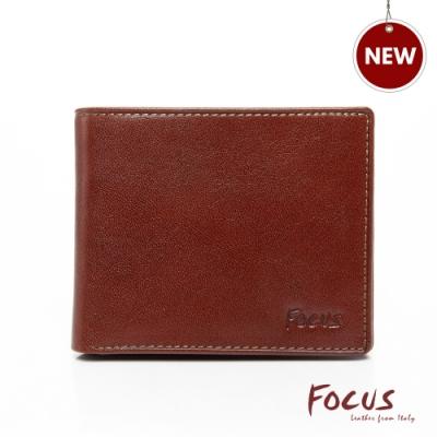 FOCUS經典原皮簡約4卡零錢袋短夾(FTB2825)