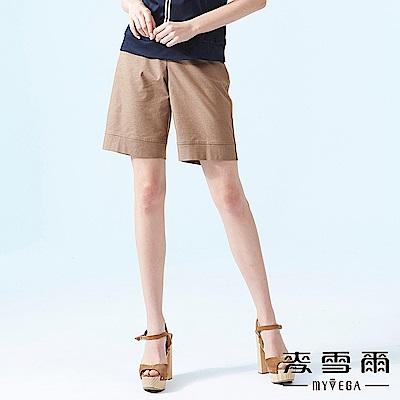 【麥雪爾】棉質簡約質感五分褲