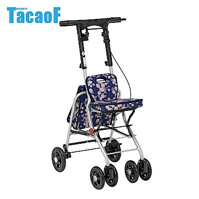 日本TacaoF幸和 輕巧助步車-花樣海軍藍