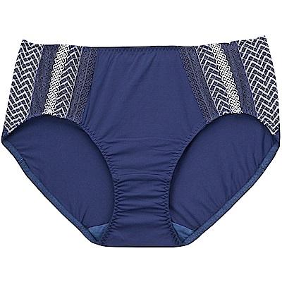 莎薇-大波美人L-3L 中腰三角褲(藍)親膚舒適-透氣包覆