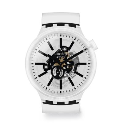 Swatch BIG BOLD系列手錶 BLACKINJELLY-47mm