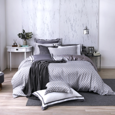 OLIVIA  德瑞克  加大雙人床包冬夏兩用被套四件組 300織天絲TM萊賽爾 台灣製
