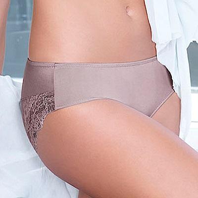 黛安芬-逆齡Bra纖體蕾絲系列內衣M-EL中腰內褲(奧茲灰)
