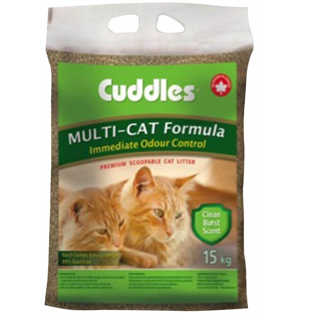 加拿大Cuddles諾美利加七星級呵護凝結香味貓砂-花香味 15kg 加強版凝結配方