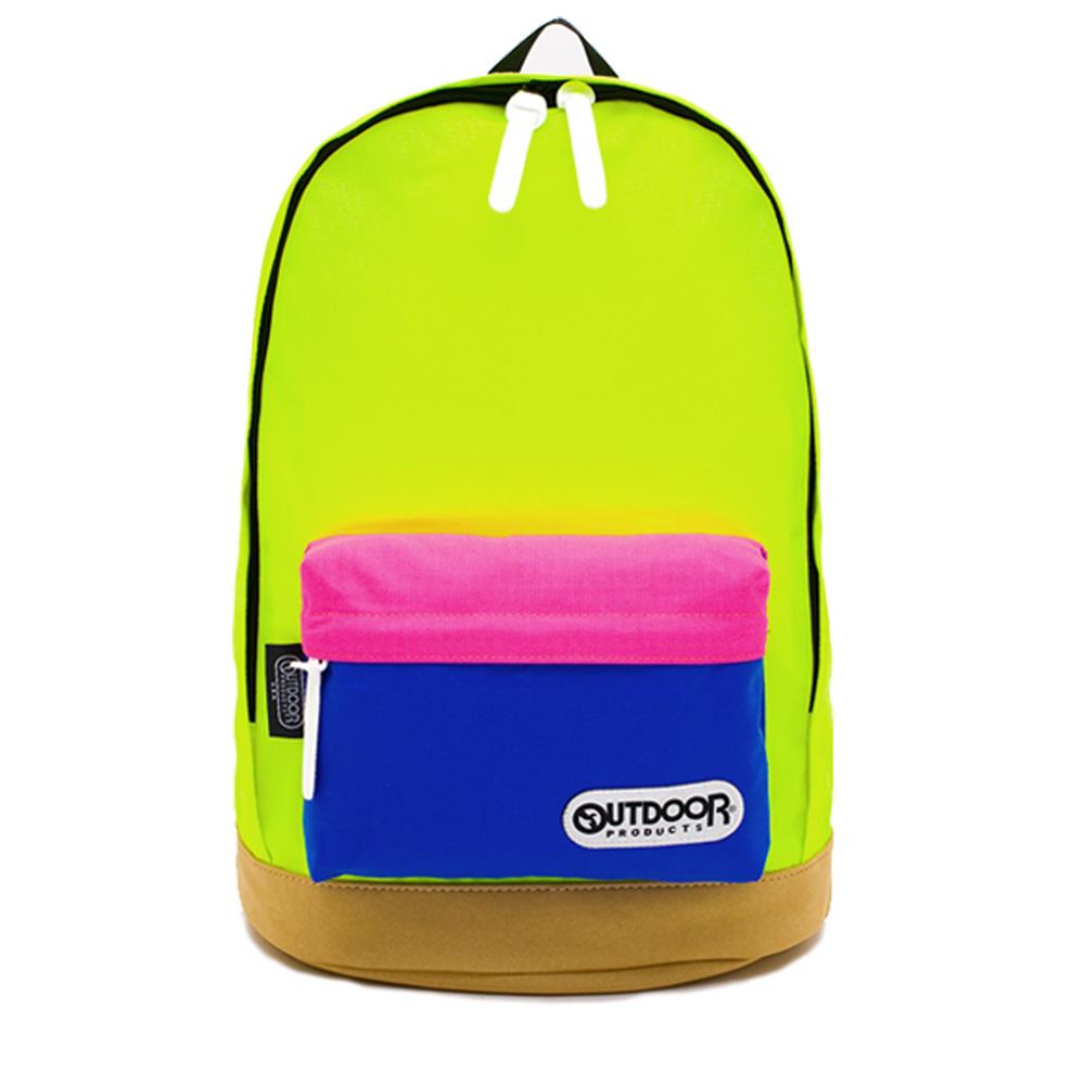 創意拼貼-三色麂皮底後背包-黃粉藍 OD557BYL