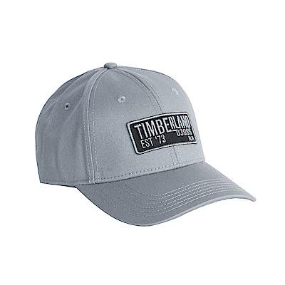 Timberland灰色刺繡斜織布棒球帽A1E9D065