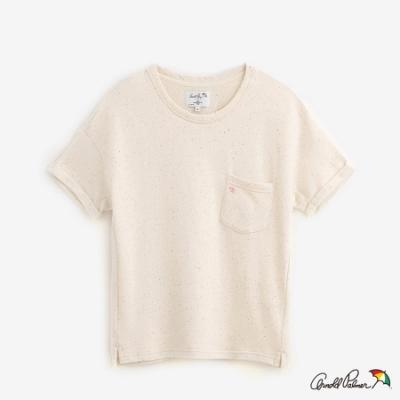 Arnold Palmer-女裝-彩點紗毛巾布短袖上衣-米