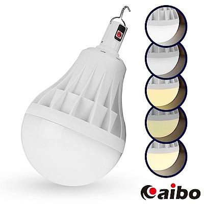 擺攤特選 USB充電智能型 5段光吊掛式LED大燈泡80W(LI-17)