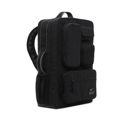 Nike 後背包 Utility Elite Backpack 大容量 全開式 手提 雙肩背 旅遊 多夾層 黑 CK2656010