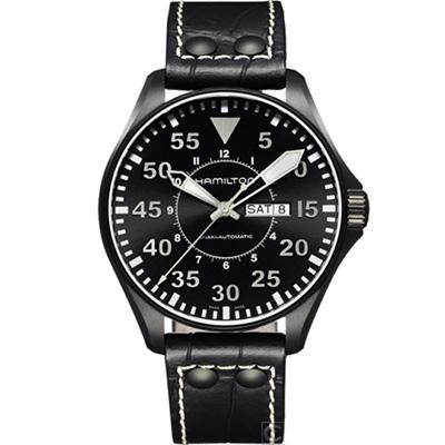 (無卡分期12期)HAMILTON 航空飛行自動機械腕錶(H64785835)46mm