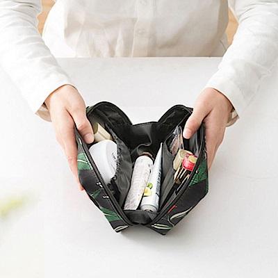 JIDA 禾風超質感新款加厚化妝包/手拿包(2色)