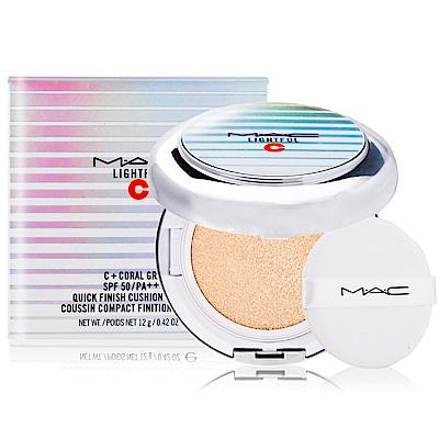 *M.A.C 超顯白氣墊粉餅12g(蕊心+粉撲+粉盒)贈試用包隨機X1