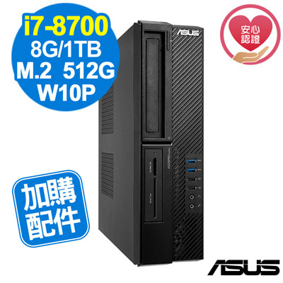 ASUS M840SA i7-8700/8G/660P 512G+1TB/W10P