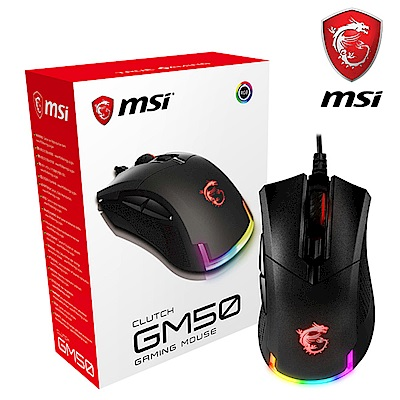 MSI微星 GM50 輕量化RGB電競滑鼠
