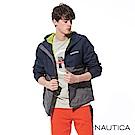 Nautica COMPETITION系列防潑水連帽外套-藍色