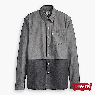 Levis 長袖襯衫 男裝 雙色拼接 單口袋