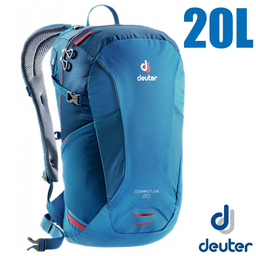 德國 Deuter Speed Lite 20L 輕量級透氣健行登山背包_藍/深藍