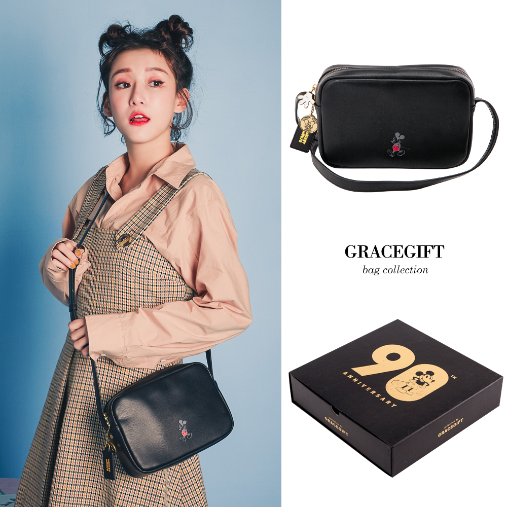 Disney collection by Grace gift米奇90周年經典壓紋方包