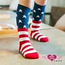 天使霓裳 星星條紋 兒童中筒襪 2雙入(藍紅S~L)