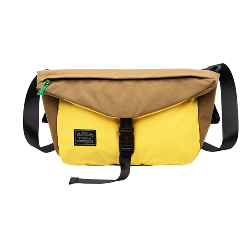 TG2503BR時尚垮包側背包咖配黃