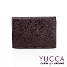 YUCCA - 牛皮俏麗多彩名片夾(迷你皮夾)-咖啡色-02200007009