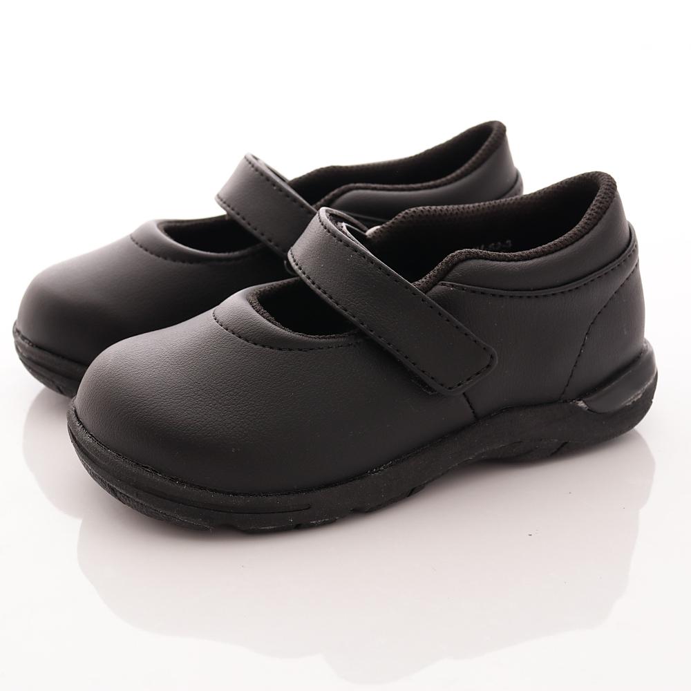 日本Carrot機能童鞋 2E輕量私校皮鞋款 TW0886黑(中小童段)