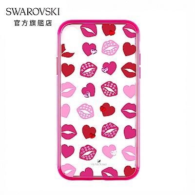 SWAROVSKI 施華洛世奇 Lovely iPhone XS Max 紅唇愛心防震手機殼
