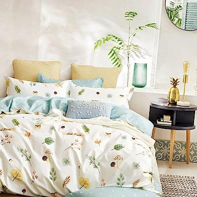 La Lune 台灣製40支精梳純棉單人床包雙人被套三件組 本草綱目北歐篇