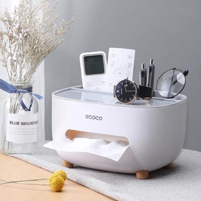 【時時樂限定】桌面多功能收納面紙盒/衛生紙盒 (3色任選)