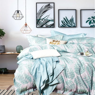 A-ONE 頂級天絲三件式-加大床包/枕套組-綠雅