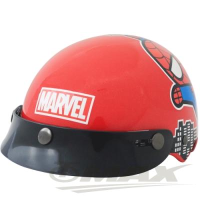 蜘蛛人兒童安全帽-紅色 (贈短鏡片)-快