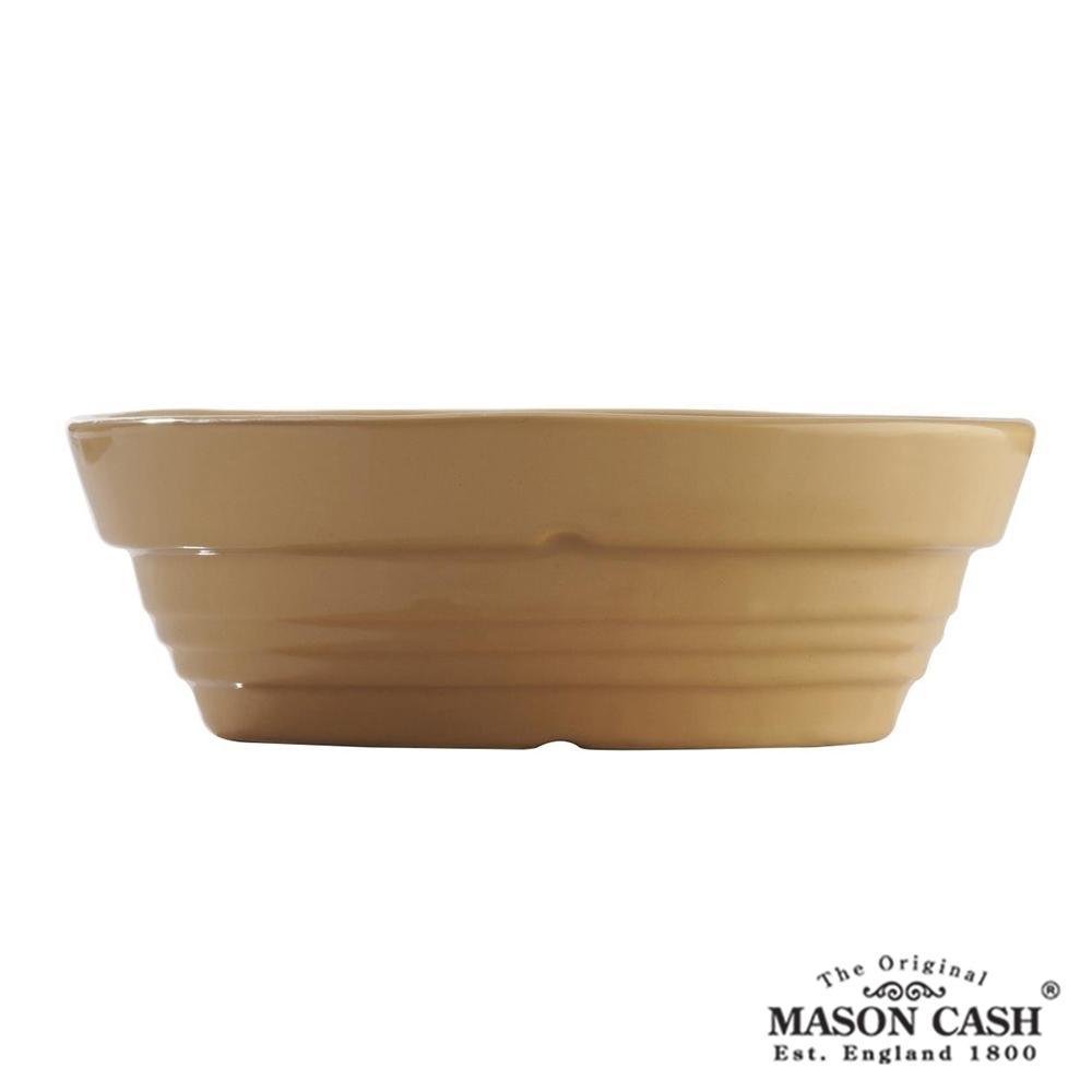 MASON 浮雕陶瓷橢圓烤派盤18CM(黃)
