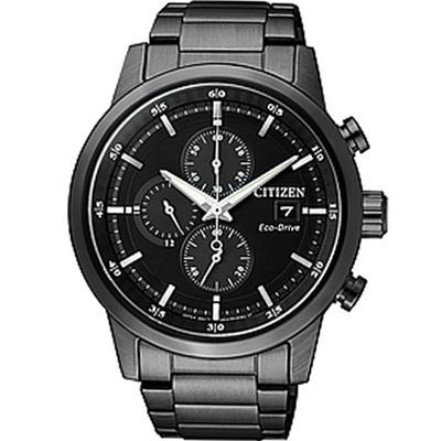 CITIZEN Eco-Drive 極速豪傑光動能計時腕錶(CA0615-59E)43mm