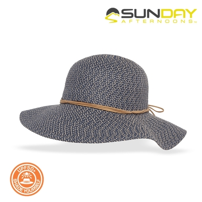 Sunday Afternoons 女款 抗UV防曬編織帽 S2C86496C【潟湖藍】